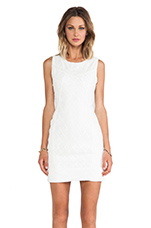 Dawson Lace Blocked Dress in White