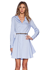 Cotton Shirtdress in Chambray