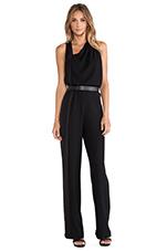 Sleeveless Asymmetrical Jumpsuit in Black