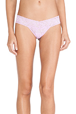 Signature Lace Low Rise Thong in Lotus