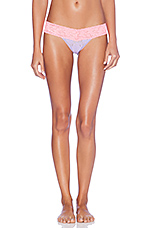Colorplay Low Rise Thong in Wisteria & Peach Fizz