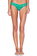 Signature Lace Low Rise Thong in Malachite