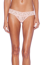 Signature Lace Petite Low Rise Thong in Rosewater