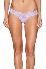 Signature Lace Low Rise Thong in Wisteria