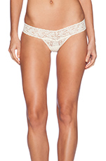 Signature Lace Petite Low Rise Thong in Buttercream