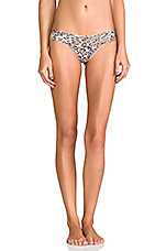 Leopard Noveau Low Rise Thong in Brown