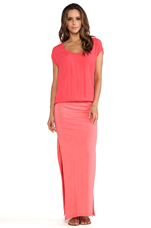 Crepe Basics Knit Maxi in Coral