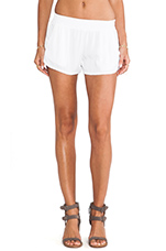 Crepe Dolphin Short in White