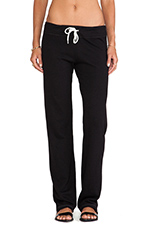 Heather Fleece Straight Leg Sweats in Black