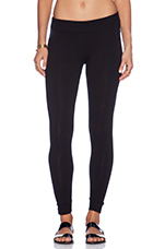 Heavy Stretch Cotton Yoga Leggings in Black