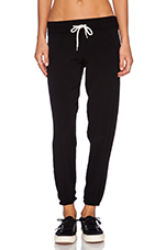 Crepe Woven Sweatpant in Black