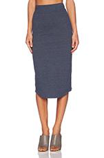 Granite Jersey Pencil Skirt in Vintage Blue