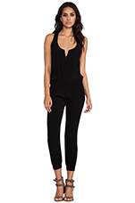 Crepe Jumpsuit in Black