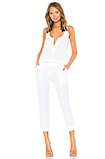 Crepe Jumpsuit in White