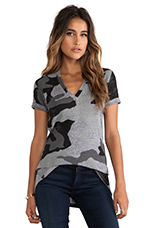 Oversized Camo Print V in Granite