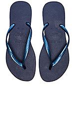 Slim Flip Flop in Navy Blue