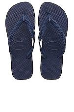 Top Flip Flop in Navy Blue
