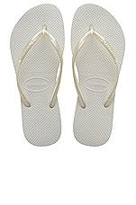 Slim Flip Flop in White