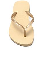Slim Flip Flop in Sand Grey/Light Golden
