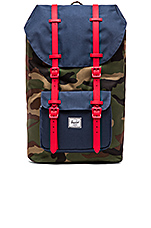 Little America in Woodland Camo & Navy & Red