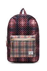Settlement Backpack in Rust Plaid Polka Dot/ Grey Plaid