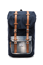 Cabin Collection Little America Backpack in Navy/ Knit