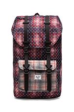 Little America Backpack in Rust Plaid Polka Dot/ Grey Plaid/ Black