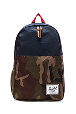 Jasper Backpack in Woodland Camo/ Navy/ Red