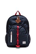 Parkgate Backpack in Navy/ Red