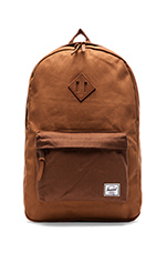 Select Collection Heritage Backpack in Caramel/ Dark Caramel