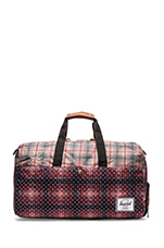 Lonsdale Duffle in Rust Plaid Polka Dot/ Grey Plaid