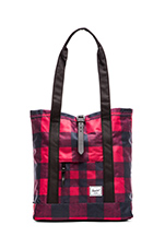 Market Tote in Buffalo Plaid & Black