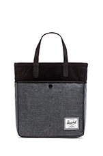 Brohm Tote in Black Crosshatch & Black