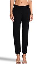 G Cuffed Trousers in Black/White