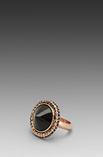Scry Stone Ring in Rosegold