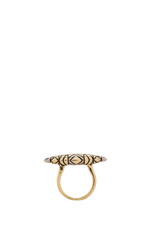 Tribal Totem Ring en Bicolore