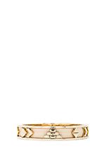 Aztec Bangle in Gold Tone Cream