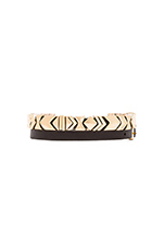Aztec Wrap Bracelet in Gold/Black