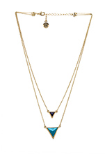 The Temple Necklace in Gold/Turquoise