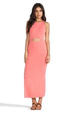 Peekaboo Maxi Dress in Heather Citrus