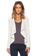 Open Front Cardi in Stone
