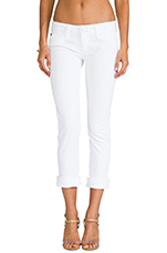 Ginny Cropped Denim in White