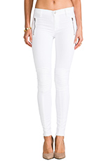 Stark Moto Pant in White