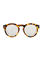 Toohey in Light Tortoise & Silver Mirror