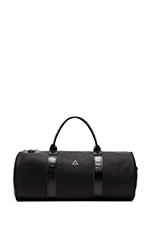 Leather Duffle Bag in Black