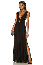 Anjeli Empire Maxi Dress in Black