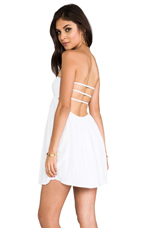 Sunny Smocked Bandeau Dress in White