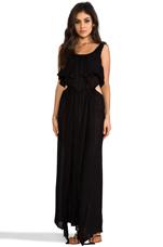 Zanzibar Flounce Cut Out Maxi Dress in Black