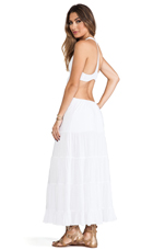 Flamenco Cutaway Tank Dress in White