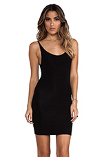 Daisy Scoop Back Tank Dress in Black